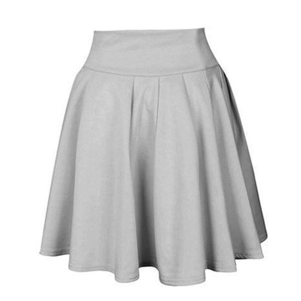 高ストレッチ女性のファッションウエストスケーターフレアプリーツパーティーミニスカートドレス