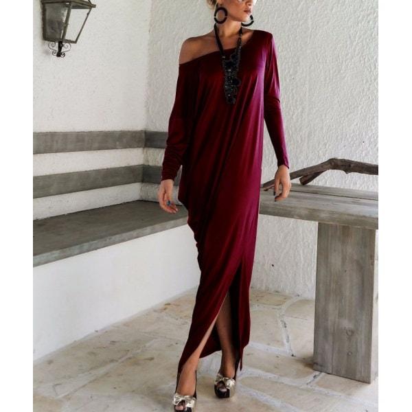 プラスサイズ妊婦さんOK Asymmetry Maxi Dress アシンメトリーマキシワンピース