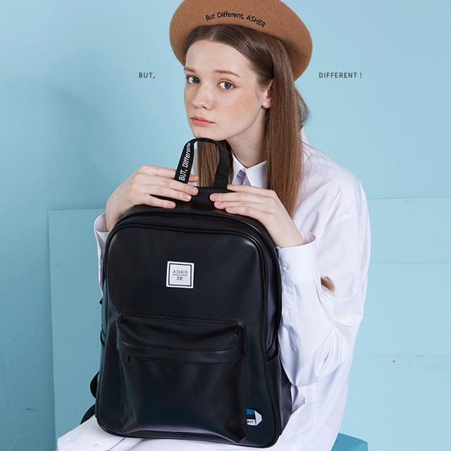 送料無料 レディース リュック リュックサック バックパック 合皮レザー ホワイト ブラック 通学 通勤 マザーズバッグ JEASHER 2色