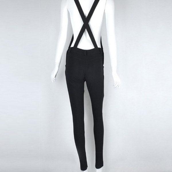 新しいファッション女性スキニーサスペンダーカジュアルロングペンシルパンツ女性ズボンレッグジャンプスーツロンパー