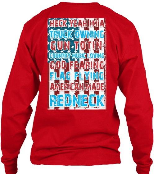 アメリカンメイドレッドネック憲法/旗 - ヘックインアーIMAトラックトゥーイングトゥーンカントリーミュージックラビング