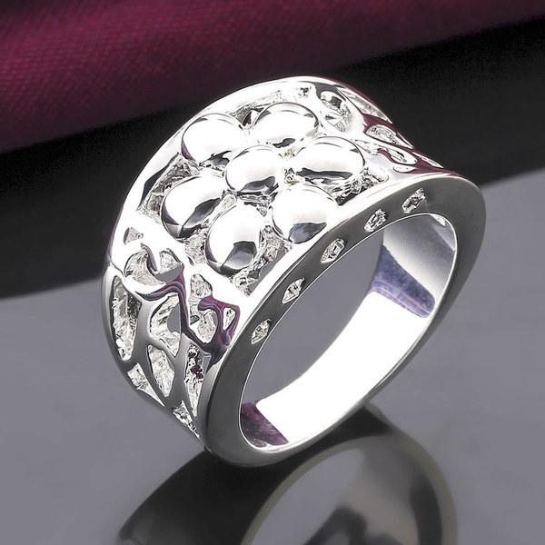 高品質の華やかな明るい925スターリングシルバーファッション人気のジュエリーファッション象眼ジルコンリング