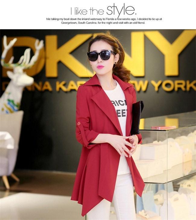 【2016春夏新作6color】コートジャケット ショートトレンチコート☆スタンダードに着たり、レディーに着たり、カジュアルに着こなしたりとコーディネート力無限大のアイテム。 春ファッション★韓国ファ