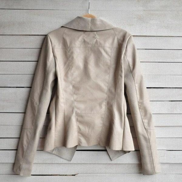 サイズS-XXXXL女性バイカーショートジャケットフェイクPUレザーレディースジップアップコートパーカーボンバージャケット