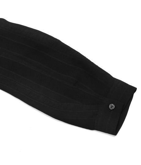 シャドーストライプジャケット【アナップ Alluge レディース アウター オフホワイト ライトグレー ブラック 白 灰 黒 シャドー ストライプ ジャケット ジャケット/ブルゾン 長袖 ストライプ柄