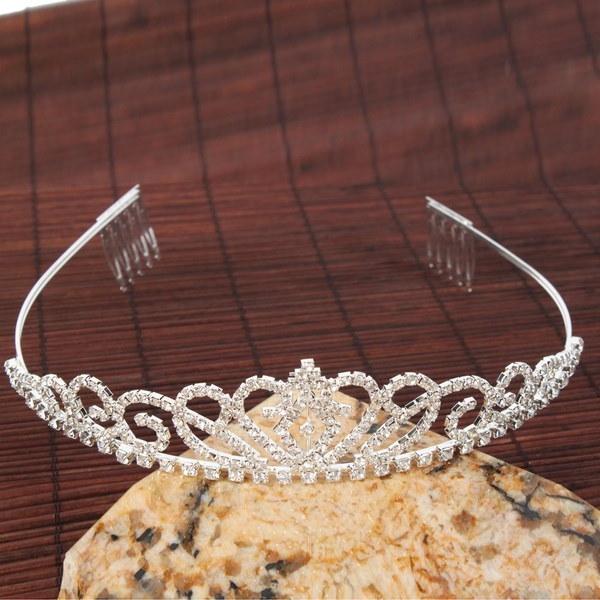 新しいロマンチックな女の子豪華な結婚式のブライダルラインストーンクラウンヘッドバンドプリンセス
