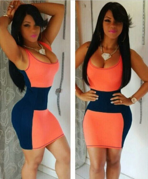 Sexy Women s BodyCon Cocktail Evening Party Color Splicing Clubwear Tank Short Mini Dress