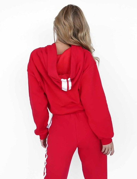 女性ファッションプルオーバーパーカースウェットトラックスーツ女性のスウェットシャツ+パンツカジュアルツーピースアスレチックセット