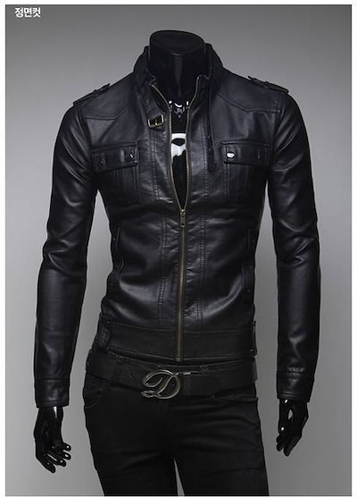 Mens Fashion Faux Leather jackets Designer Casual Slim fit outerwear Tops New Coats 2 colors XS S M