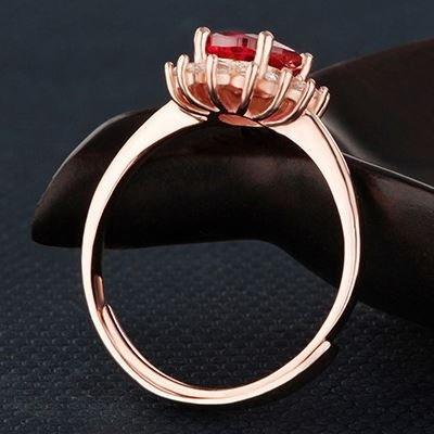 925スターリングシルバーかわいい女性の指輪ジュエリーの結婚式婚約パーティーのギフトリングのジュエリーバンド