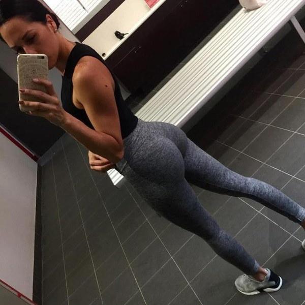 女性HightウエストヨガフィットネスレギンスランニングジムストレッチスポーツパンツズボンWinterflowers