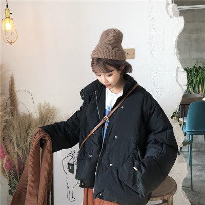 裏/小/冬/韓国風/ルース/大型ポケット/手厚い/ツーリング/コットンコート/コットンコート/パンコート/アウターウェア/女