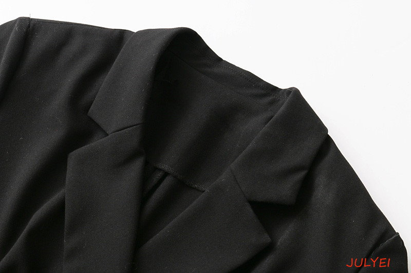 欧米風 2018春 スーツジャケット式 ミニワンピース ダブルブレスト 無地 着やせ  長袖トップス カジュアル レディース