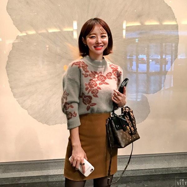 【IMVELY イムブリー公式】ホワイトもこもこニットI74NT0027/I74NT0027 韓国ファッション レディース
