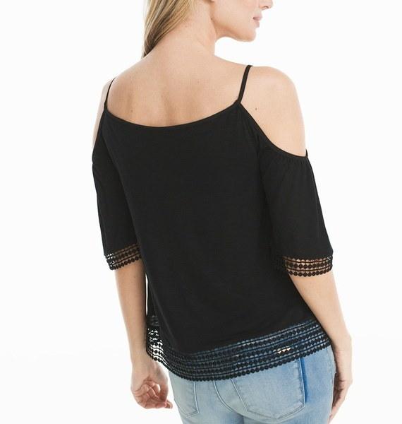 2017女性のセクシーなレーストリムカットアウトショルダートップレディースファッションショートスリーブスクープネックトップTシャツ