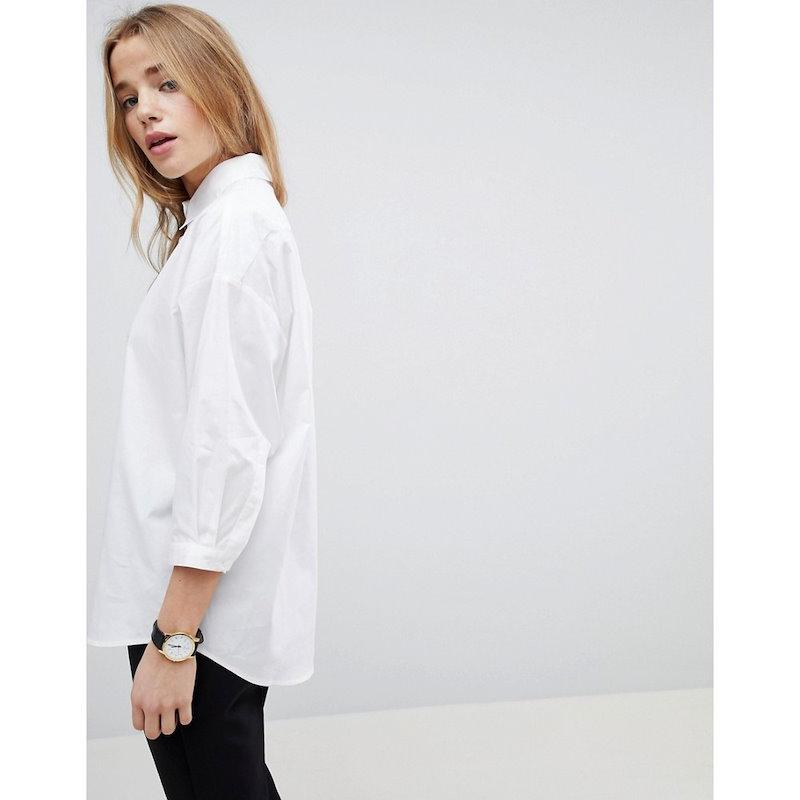 エイソス レディース トップス ブラウス・シャツ【ASOS Girlfriend Shirt】White
