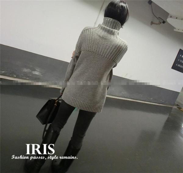 【IRIS】秋冬 ニットセーターレディース レディースセーター ニット クルーネック 無地 ハイネック ウール ふわふわ あたたかい XS/S/M/L/XL/XXL