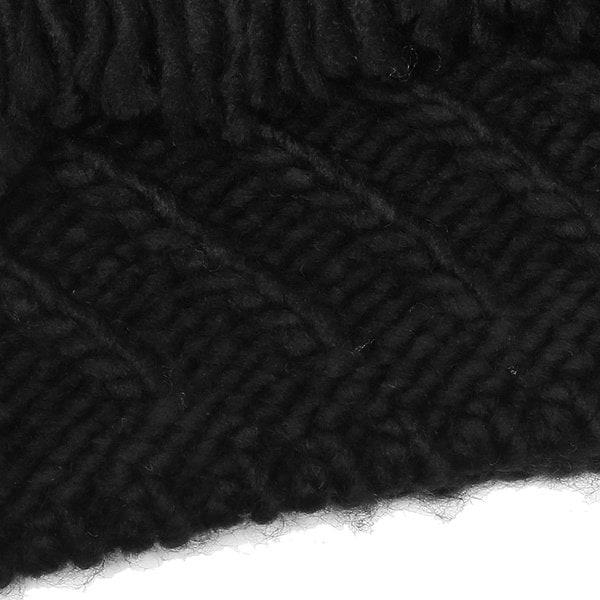 マイケルコース マフラー MICHAEL KORS 537144 BLACK CABLE PATCHWORK MUFFLER 約W25cm×H183cm アクリル BLACK 黒