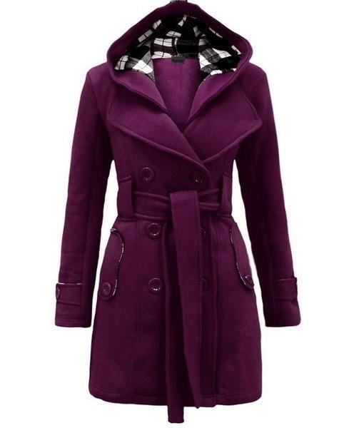 ファッション女性の暖かい冬のフード付きロングセクションジャケットアウトレットコートWT6277
