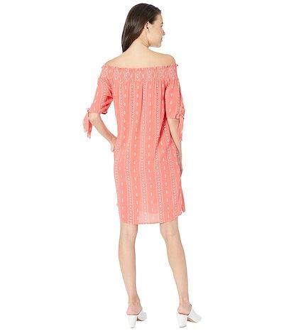 トリバル レディース ワンピース トップス Crinkle Woven Off Shoulder Dress w/ Pockets