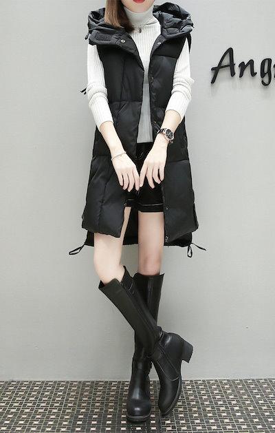 O1TU2018新品 大人気❤ 韓国ファッション   CHIC気質   中・長セクション  綿入れダウンコート  ベスト