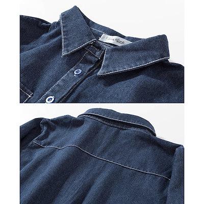 大きいサイズ ワンピース レディース デニムワンピース シャツワンピ チュニックシャツ XL 2L 3L 4L 5L 6L
