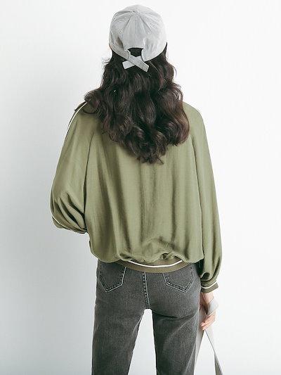 売れ筋 春物 ブルゾン ジャケット サイドライン ドルマンスリーブ ゆったり カジュアル トレンド こなれ感 スポーティー I1369