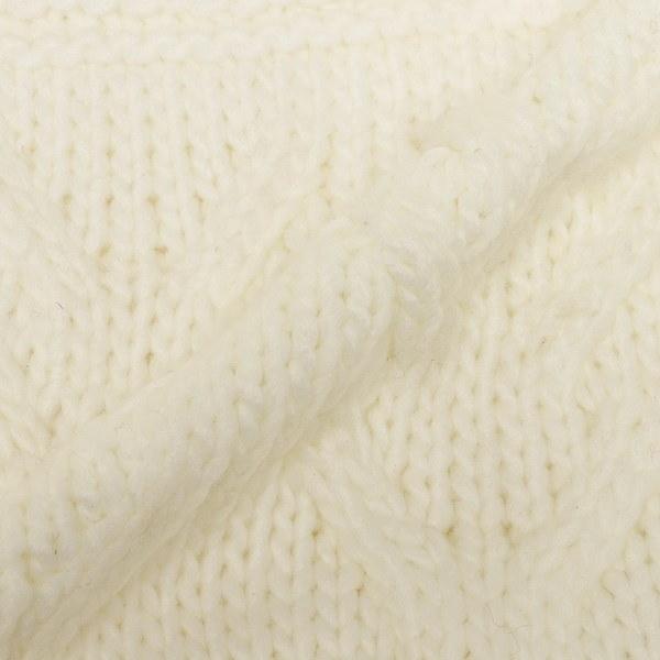 マイケルコース マフラー MICHAEL KORS 537144 CREAM CABLE PATCHWORK MUFFLER 約W25cm×H183cm アクリル CREAM 白