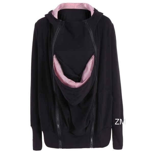 妊娠中の女性のための高品質の新しい赤ちゃんキャリアジャケットカンガルー冬の出産のアウターコート