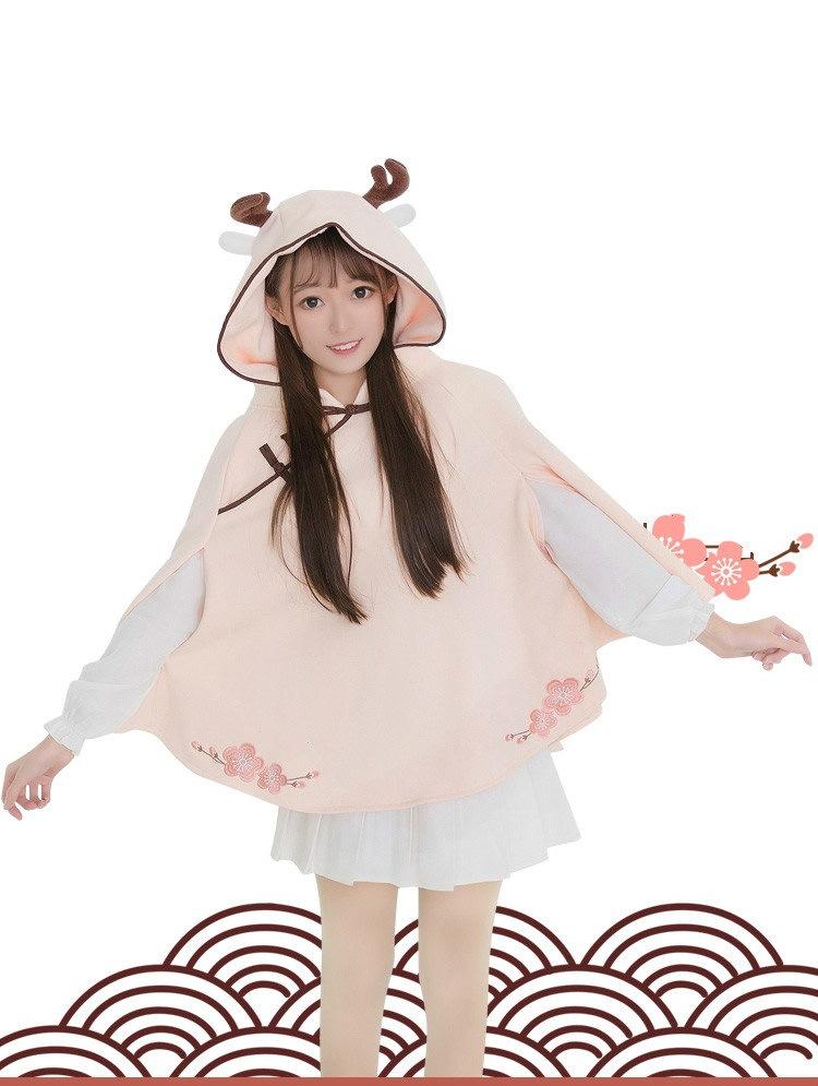 スポット!シカの鹿古着のコート秋と冬のアニメーションの二次服