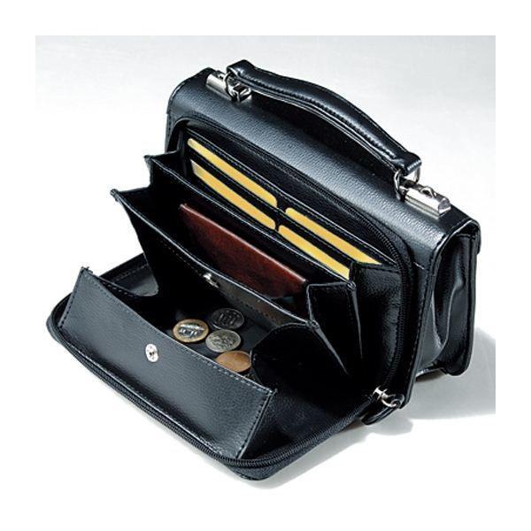 〔日本製〕家紋付 礼装多機能バッグ (小) 鍵付◆抱き茗荷 backs-47