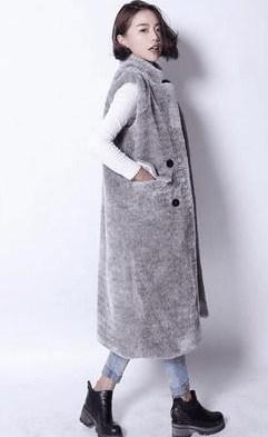 レディース コート 羊毛皮草 ベスト タンクトップ ジャケット フェイクファー 毛皮一体