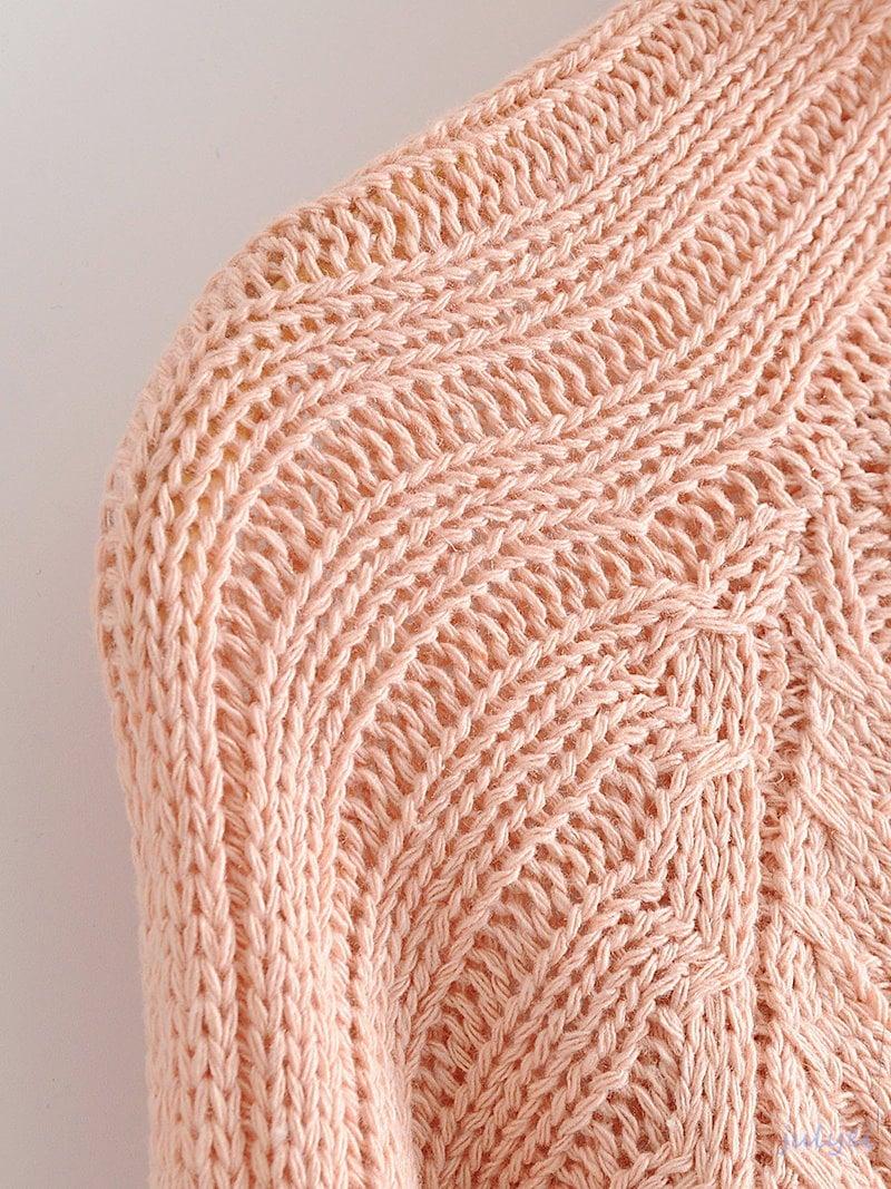 2017秋冬 ゆるニット ラウンドネック  綺麗め セーター 無地 ニットトップス ロング袖 レディース ピンク
