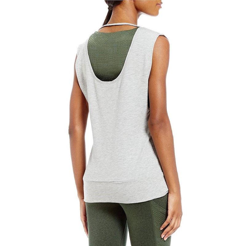 ナネット レポー レディース トップス【Nanette Lepore Play Active Cut Out Pullover Top】Grey Heather