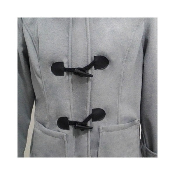 ファッションS  -  5XLダブルブレスト秋のコートの女性ホーンボタンパーカージャケットコート