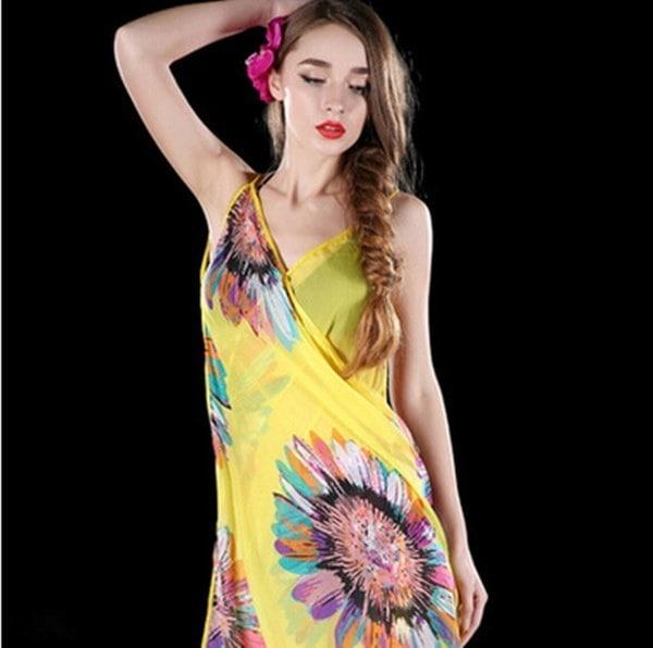 Women Sexy Chiffon Bikini Cover Up Beach Swimwear Dress Scarf Pareo Sarong Wrap Women Sexy Chiffon B
