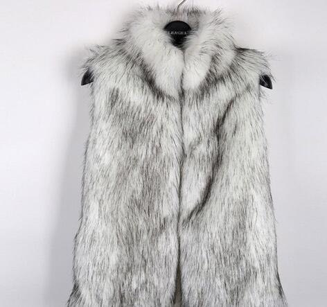 [55555SHOP]レディース 毛皮ベスト ファーベスト ファー付き チョッキ 袖なし アウター