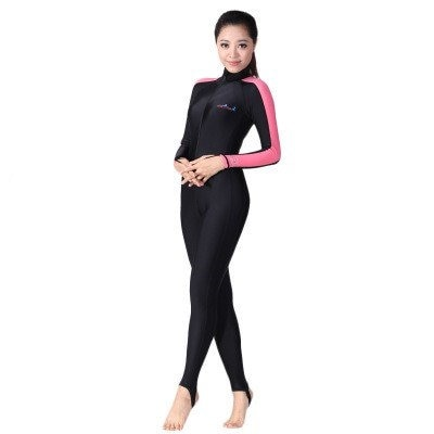 Love Lu Men and women Diving suit Men and women UV Long-sleeved diving snorkeling