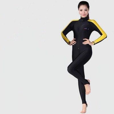 Love Lu Men and women Diving suit Men and women UV Long-sleeved diving snorkeling
