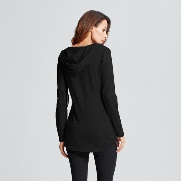 2016年新ファッション女性Vネックカジュアルポケットスウェットフード付きトップスシャツブラウス長袖スリムPu