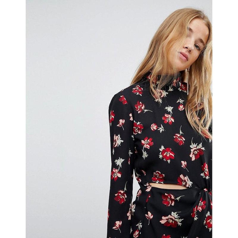 ミス セルフリッジ レディース トップス ブラウス・シャツ【Miss Selfridge Floral Cut Out Blouse】Multi