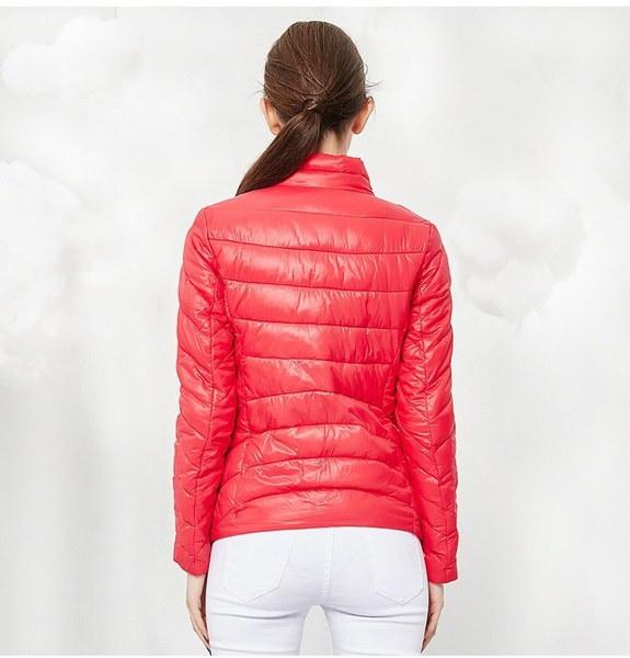 新しい到着冬の女性のファッショントップジャケット女性ウィンターコートウォームアウト薄いパッド入りコットンショー