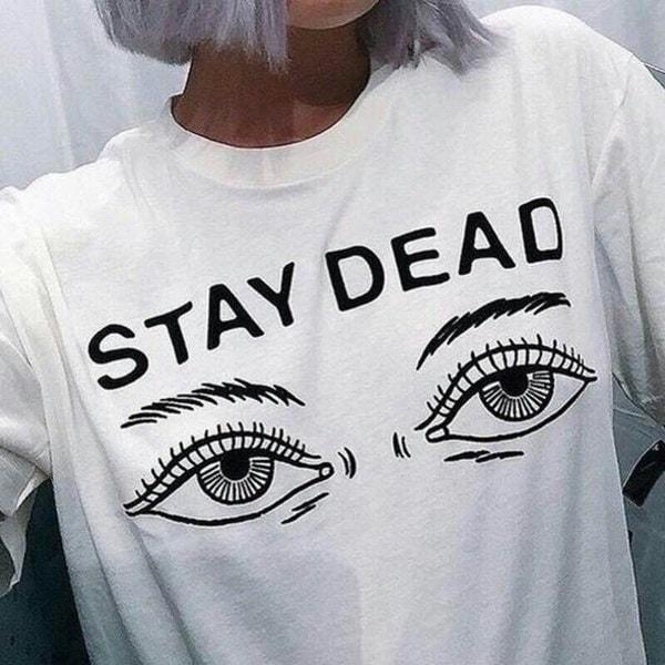 レディースTシャツ2017夏の新ファッションプリントデッドレターラウンドネックTシャツ