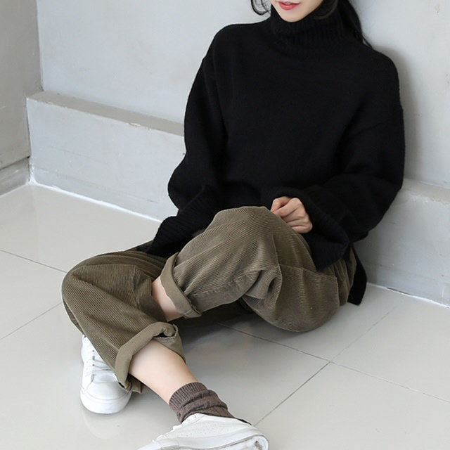 Loose Pitch Neck Polar knit Rea Basic design, warm turtleneck, warm knit in cold weather