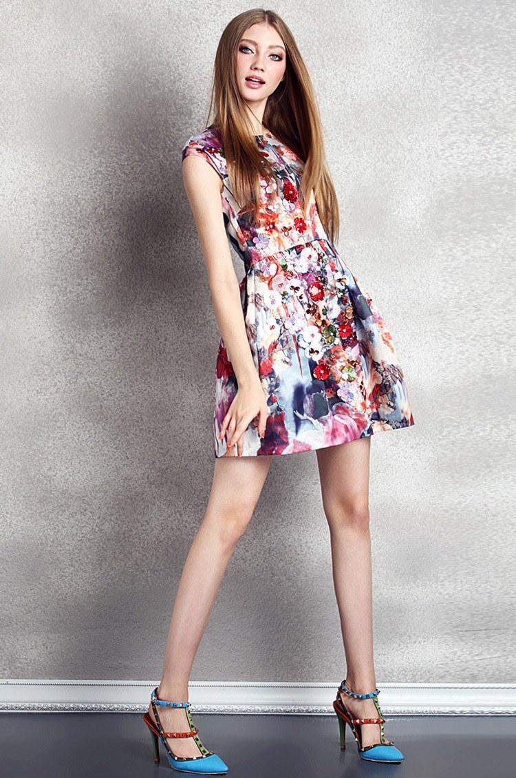スリム プリント秋の ドレス ファッション トレンド ドレス