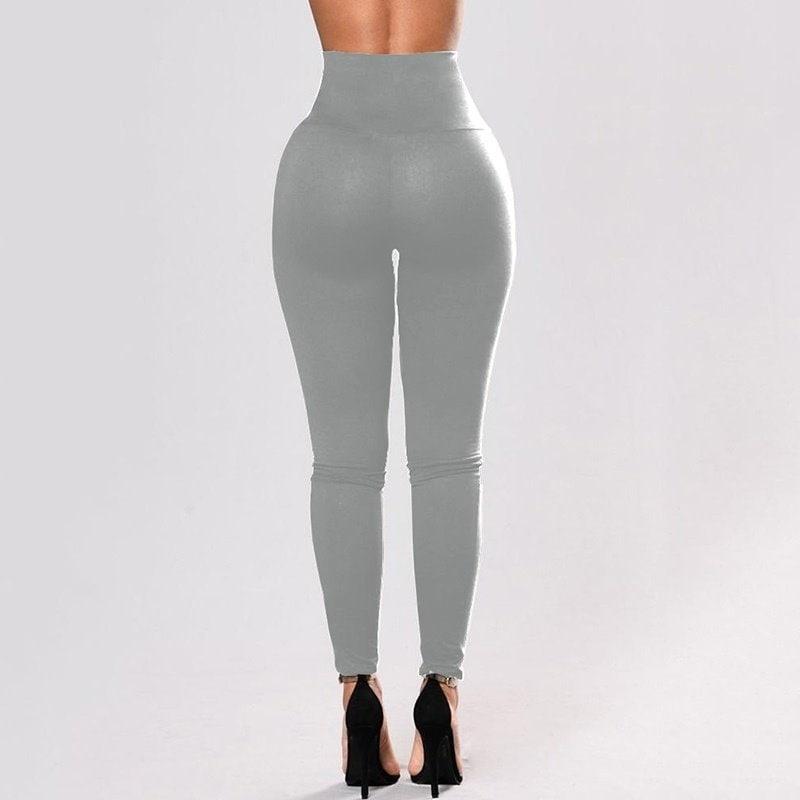 女性ファッションプラスサイズハイウエストslinkyレギンスブラックレースアップSLE