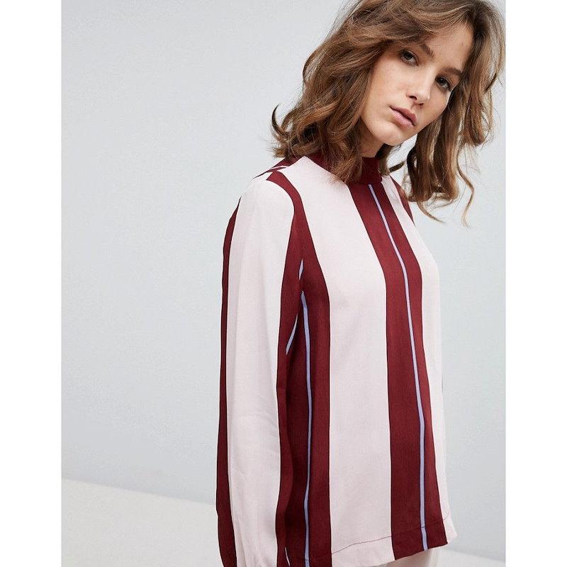 セレクテッド オム レディース トップス ブラウス・シャツ【Selected Femme Uniform Stripe Blouse】Multi