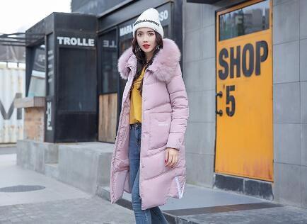 [55555SHOP]2017韓国ファッション店長おすすめ ダウンコート コート アウター ダウンコート 防寒 流行のデザインに仕立てた ダウンジャケット ロングタイプ 軽量 アウター ロング 長め
