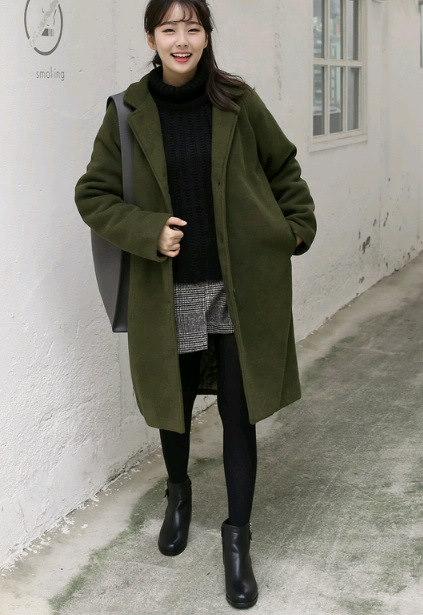 2017 シンプルスタイル ゆったり ダッフル コート 大人気 全2色