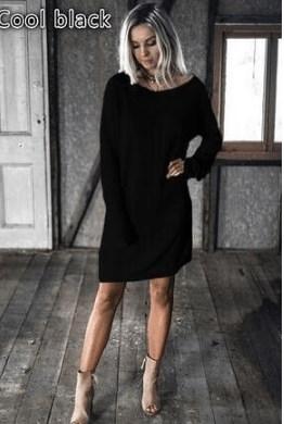 新しいシンプルなソリッドカラーのバットスリーブ底入れスカート緩い、カジュアルなドレスの学生